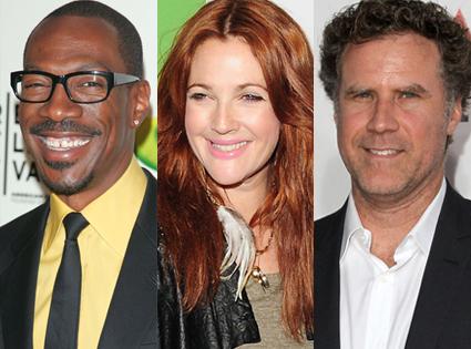 Eddie Murphy, Drew Barrymore, Will Ferrell