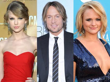 Taylor Swift, Keith Urban, Miranda Lambert