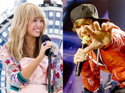 Justin Bieber, Never Say Never, Miley Cyrus, The Hannah Montana Movie