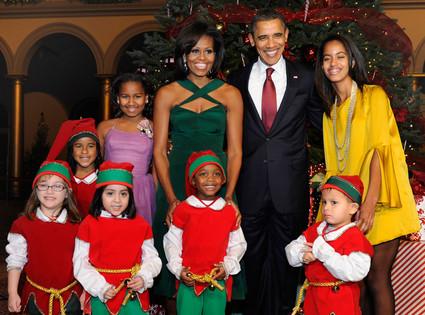 Barack Obama, Michelle Obama, Malia Obama, Sasha Obama