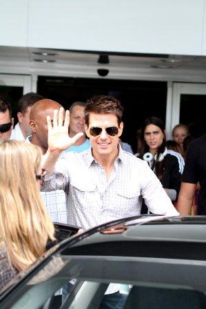 Tom Cruise desembarca no Rio de Janeiro