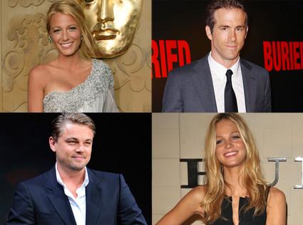 Blake Lively, Ryan Reynolds, Leonardo DiCaprio, Erin Heatherton