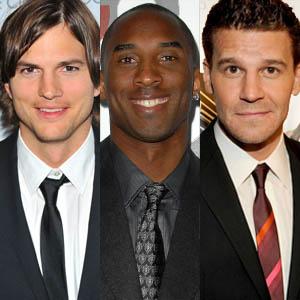 Kobe Bryant, Ashton Kutcher, David Boreanaz