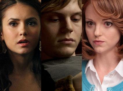 Evan Peters, American Horror Story, Jayma Mays, Glee, Nina Dobrev, The Vampire Diaries