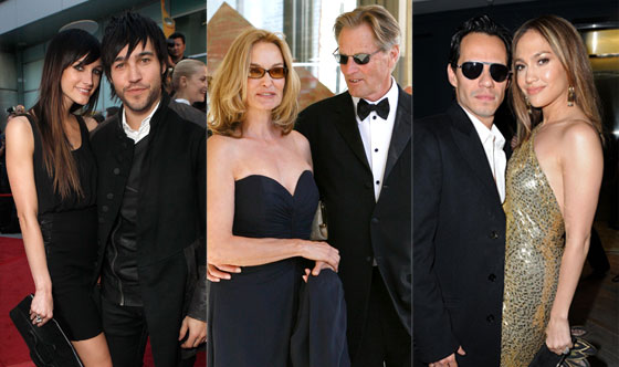 Sam Shepard, Jessica Lange, Ashlee Simpson, Pete Wentz, Marc Anthony, Jennifer Lopez