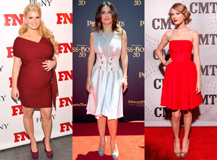 Jessica Simpson, Taylor Swift, Salma Hayek
