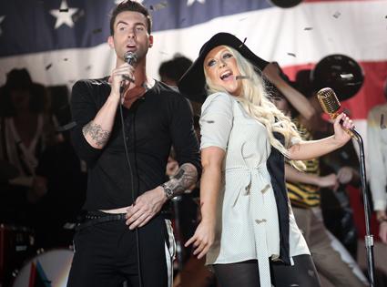 Adam Levine, Maroon 5, Christina Aguilera