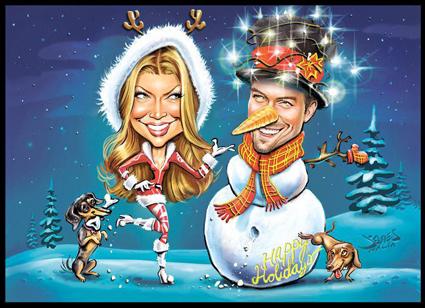 Fergie, Josh Duhamel, Holiday Card