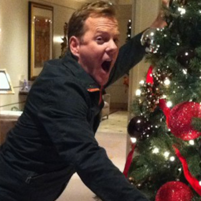 Kiefer Sutherland Graciously Spares a Christmas Tree This Holiday ...