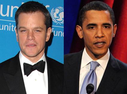 Barack Obama, Matt Damon