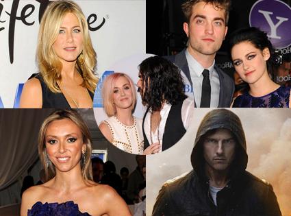 Week in Review, Katy Perry, Russell Brand, Giuliana, Jennifer Aniston, Robert Pattinson, Kristen Stewart, Tom Cruise