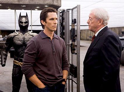 Michael Caine, Christian Bale, The Dark Knight