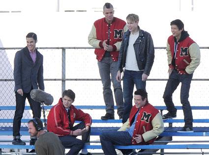 Glee Cast, Cory Monteith, Mark Salling, Harry Shum Jr., Darren Criss, Chord Overstreet