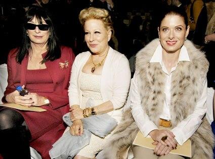 Anjelica Huston, Bette Midler, Debra Messing