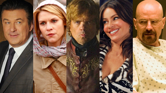 Claire Danes,Homeland,Alec Baldwin, 30 Rock, Peter Dinklage, Game of Thrones, Sofia Vergara, Modern Family