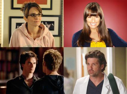 30 Rock, Glee, Grey's Anatomy, Vampire Diaries