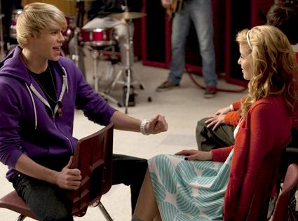 Chord Overstreet, Dianna Agron, Glee