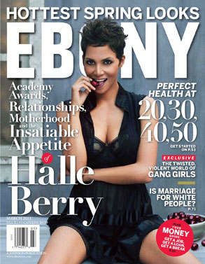 Halle Berry, Ebony Cover