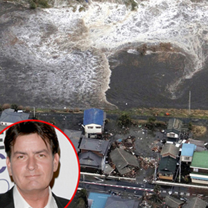 Tsunami, Japan, Charlie Sheen
