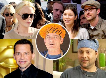 Lindsay Lohan, Justin Timberlake, Jessica Biel, Jon Cryer, Mike Starr, Charlie Sheen