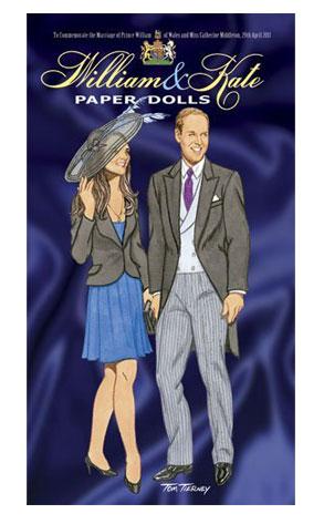 Kate Middleton, Prince William, Royal Wedding, Paper dolls