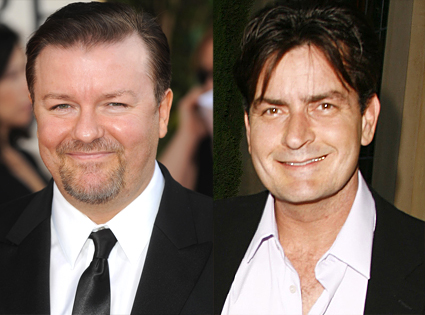 Ricky Gervais, Charlie Sheen