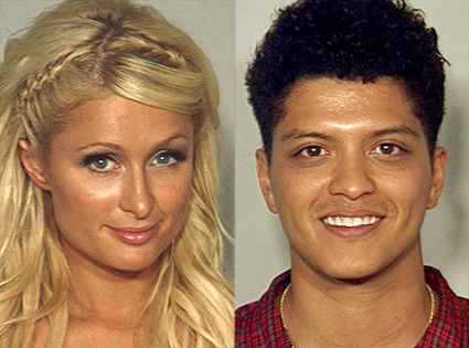 Paris Hilton, Bruno Mars, Mug Shot