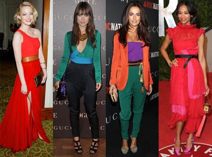 Emma Stone, Olivia Wilde, Camilla Belle, Zoe Saldana