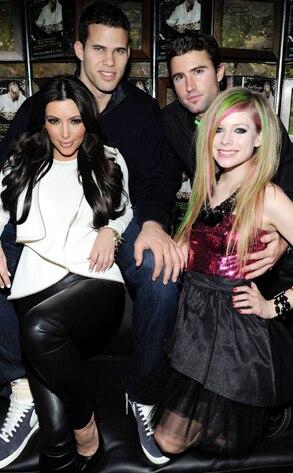 Kim Kardashian, Kris Humphries, Brody Jenner, Avril Lavigne