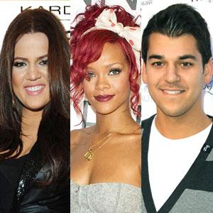 Khloe Kardashian, Rihanna, Rob Kardashian
