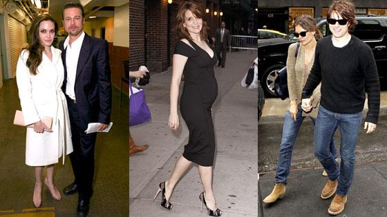 Angelina Jolie, Brad Pitt, Tina Fey, Tom Cruise, Katie Holmes