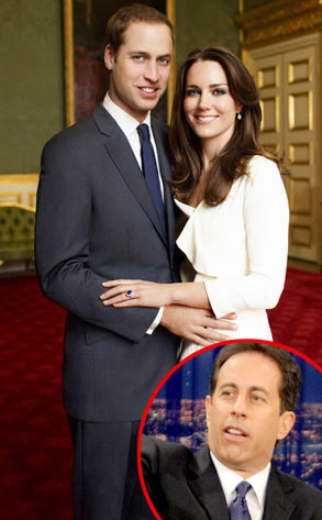 Kate Middleton, Prince William, Jerry Seinfeld