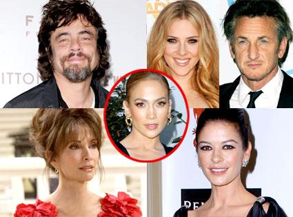 Benicio Del Toro, Scarlett Johansson, Sean Penn, Susan Lucci, Catherine Zeta Jones, Jennifer Lopez