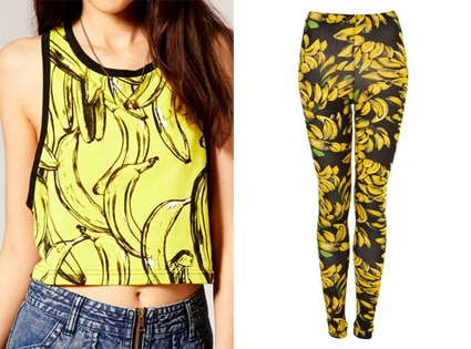 ASOS Banana Crop Tank, Banana Print Leggings