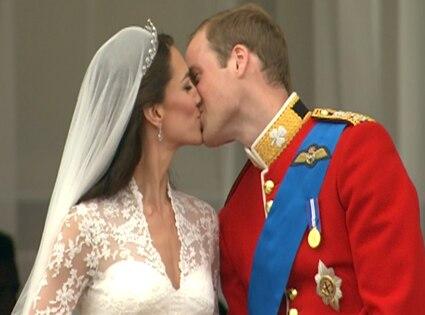 Prince William, Kate Middleton, Kiss