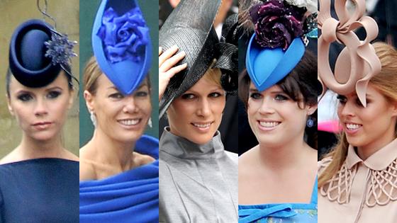 Victoria Beckham, Tara Palmer-Tom, Zara Phillips, Princess Eugenie, Princess Beatrice