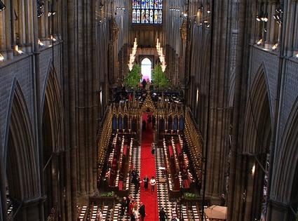 Inside Abbey before Wedding