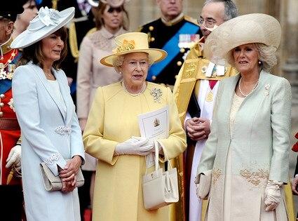 Queen Elizabeth II, Carole Middleton, Camilla, Duchess of Cornwall