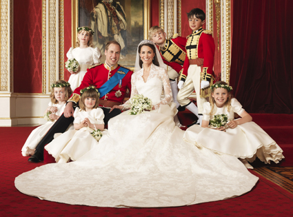 William, Catherine & Some Young Attendants
