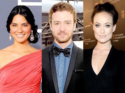Olivia Munn, Justin Timberlake, Olivia Wilde