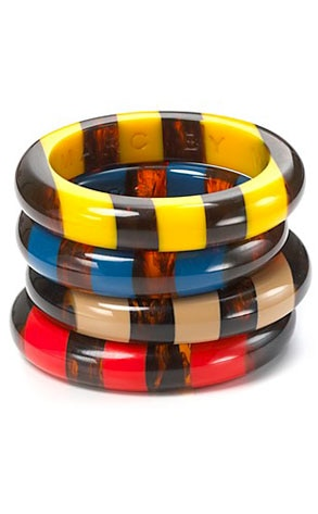 MARC BY MARC JACOBS Resin Stripe Bangle