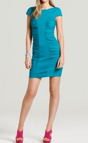 Catherine Malandrino Cap Sleeve Rouched Center Madeline Dress
