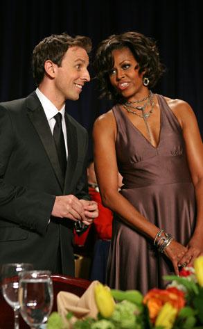 Michelle Obama, Seth Meyers