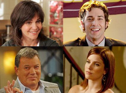 Zachary Levi, Chuck, Sophia Bush, One Tree Hill, William Shatner, Sh*t My Dad Says, Sally Field, Brothers & Sisters