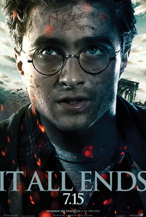 Daniel Radcliffe, Harry Potter, It All Ends Poster