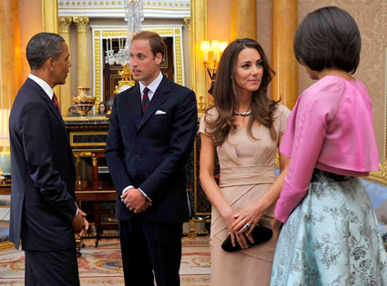 Barack Obama, Michelle Obama, Prince William, Catherine Middleton, Kate Middleton