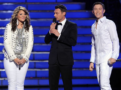 American Idol, Ryan Seacrest, Lauren Alaina, Scotty McCreery
