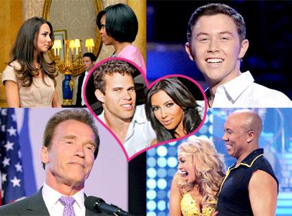 Kate Middleton, Michelle Obama, Scotty McCreery, Arnold Schwarzenegger, Hines Ward, Kym Johnson, Kim Kardashian, Kris Humphries