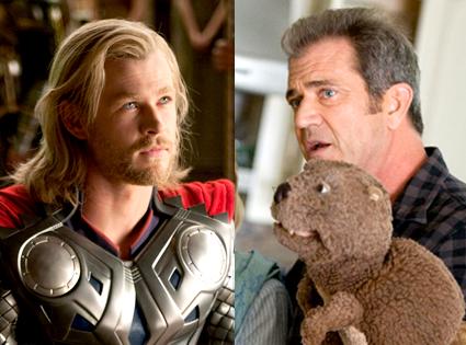 Chris Hemsworth, Thor, Mel Gibson, The Beaver