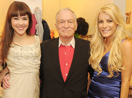 Claire Sinclair, Hugh Hefner, Crystal Harris